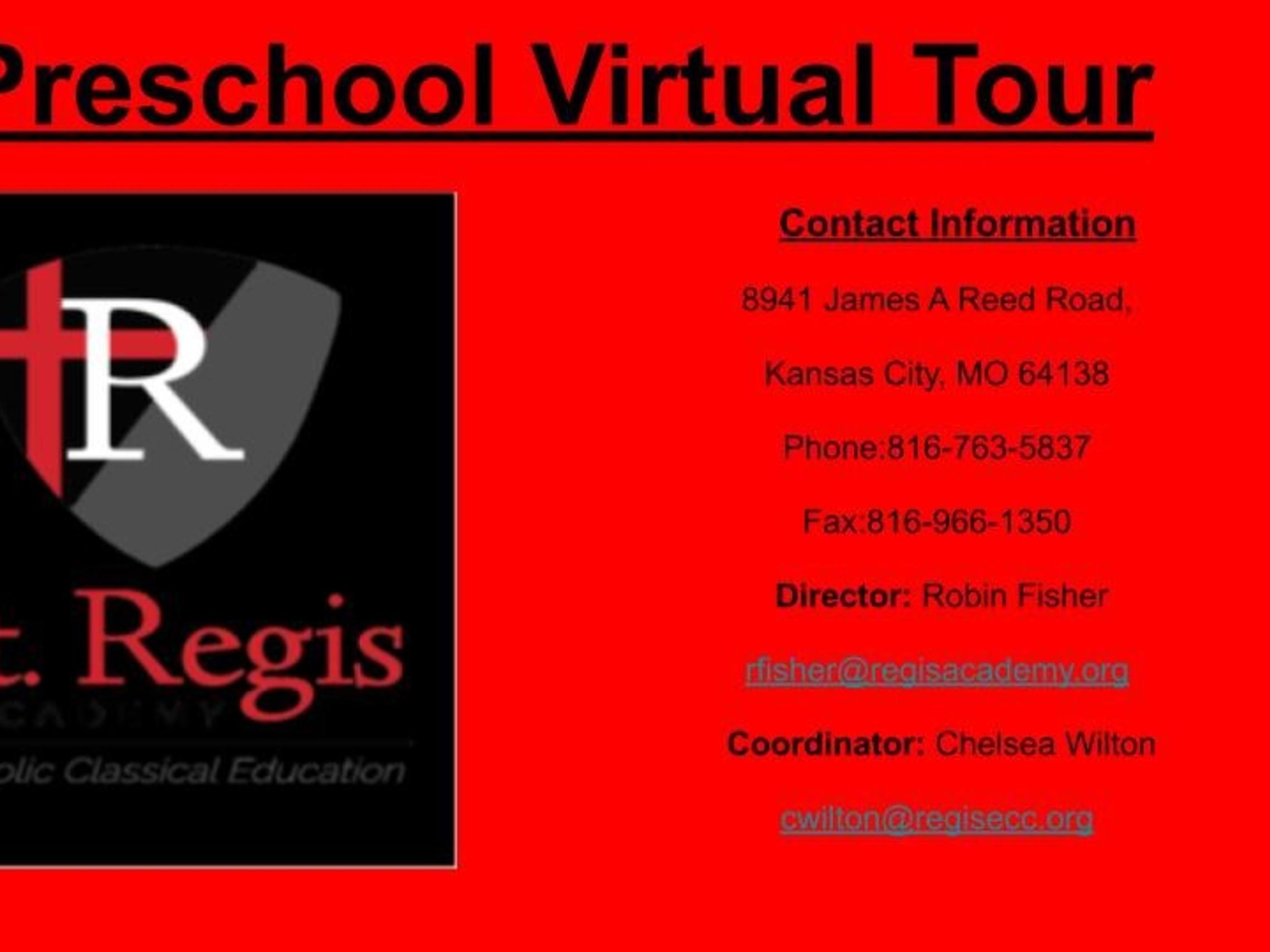 Preschool Virtual Tour